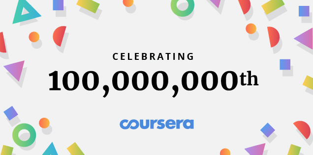 100 million reasons to celebrate our global community of learners