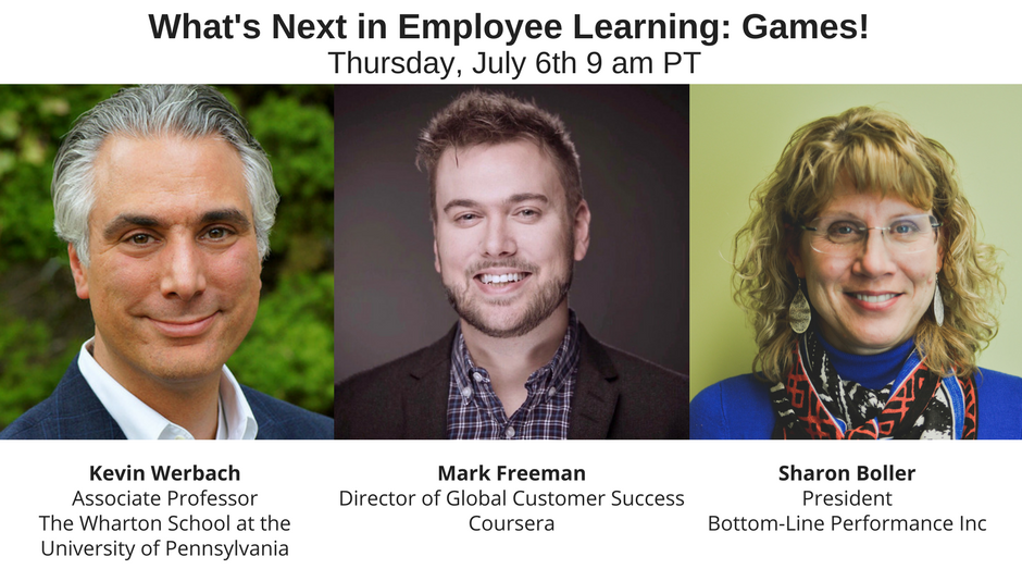Webinar: What's Next in Employee Learning: Games!
