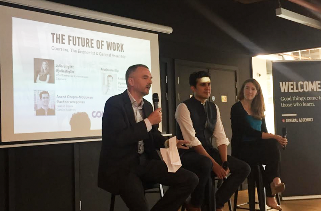 Event Recap: The Future of Work with Coursera and General Assembly