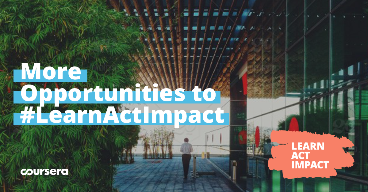 More Opportunities to #LearnActImpact