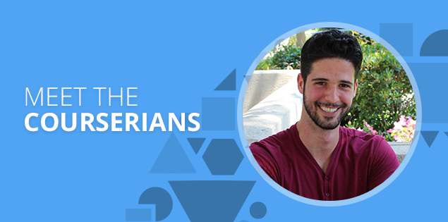 "Meet the Courserians: Giovanni Bonin, ""Coursera has helped me unlock my true potential"""