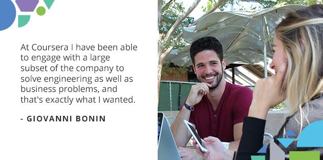 "Meet the Courserians: Giovanni Bonin, ""Coursera has helped me unlock my true potential"""