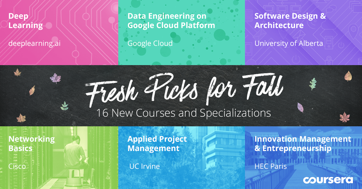 Fresh Picks for Fall: 16 New Courses and Specializations Launching on Coursera