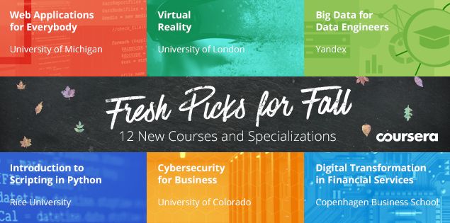 Fresh Picks for Fall: New Courses and Specializations Launching on Coursera