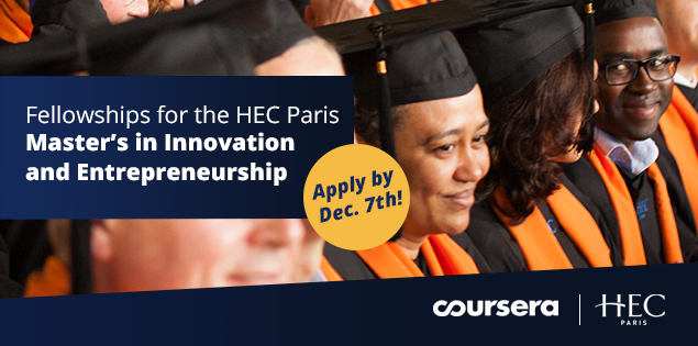 Fellowships for the HEC Paris Master's in Innovation and Entrepreneurship