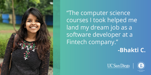 Computer Science Courses Helped Bhakti Land a Job