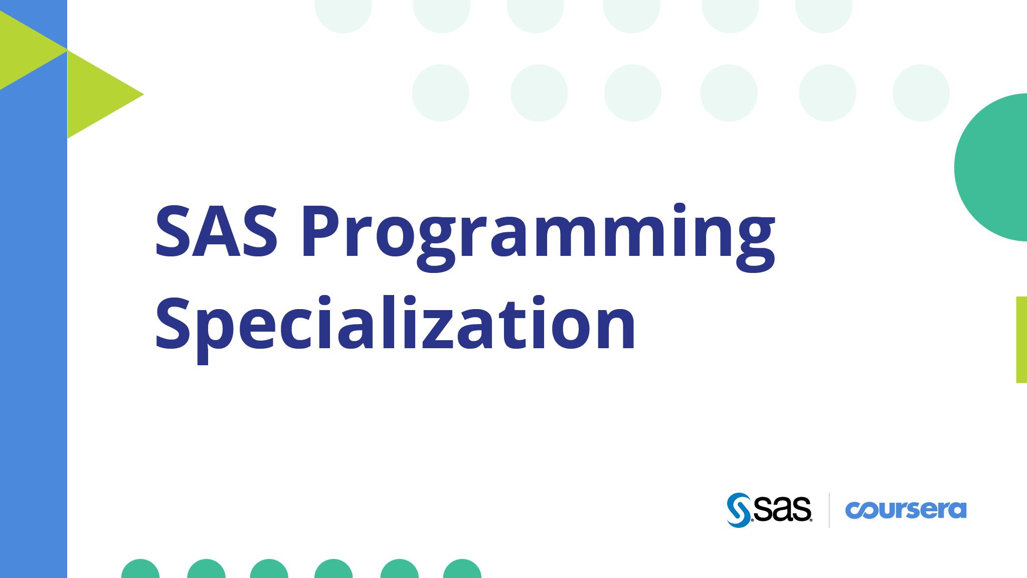 Coursera and SAS Bridge Analytics Skills Gap with New SAS® Programming Specialization