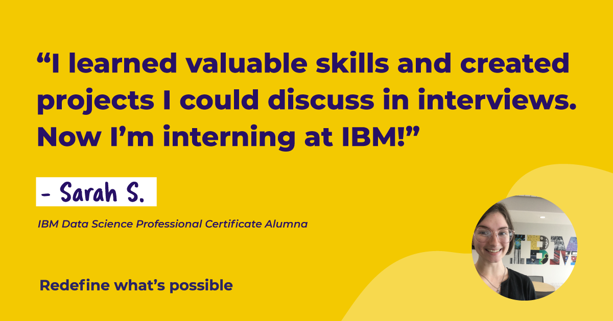 Coming Full Circle: From IBM Data Science Professional Certificate to IBM Internship