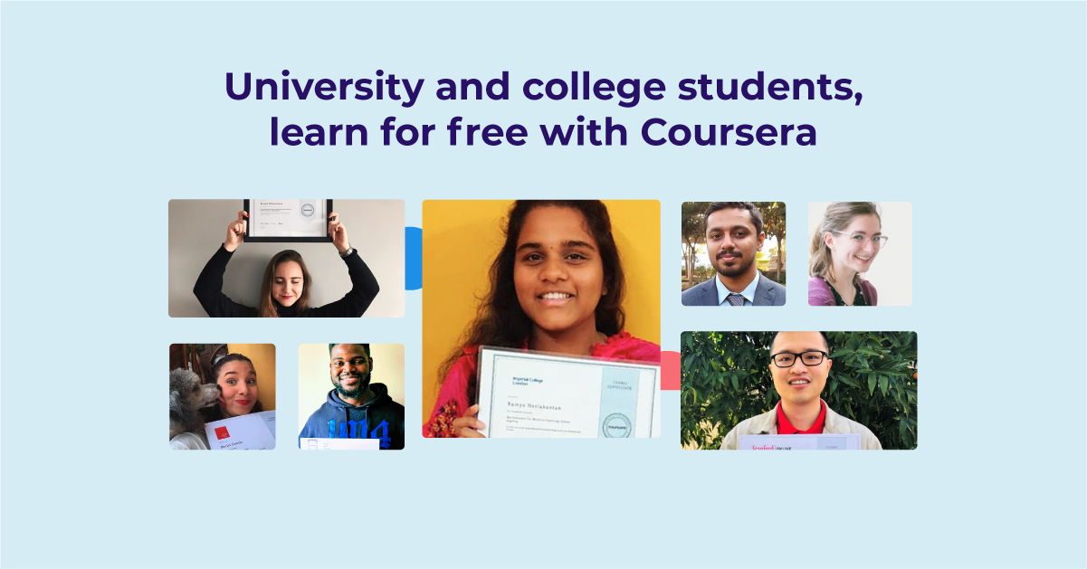 Helping college and university students regain control of their learning amid the pandemic with free access to Coursera