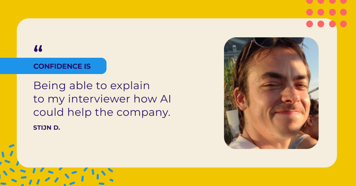 How Stijn landed his new job after completing the IBM Applied AI Professional Certificate