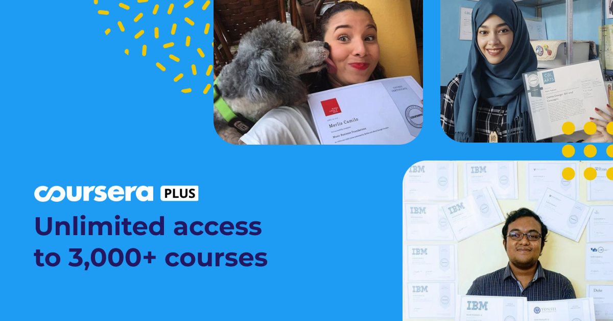Unlimited access to learning with Coursera Plus, now available worldwide