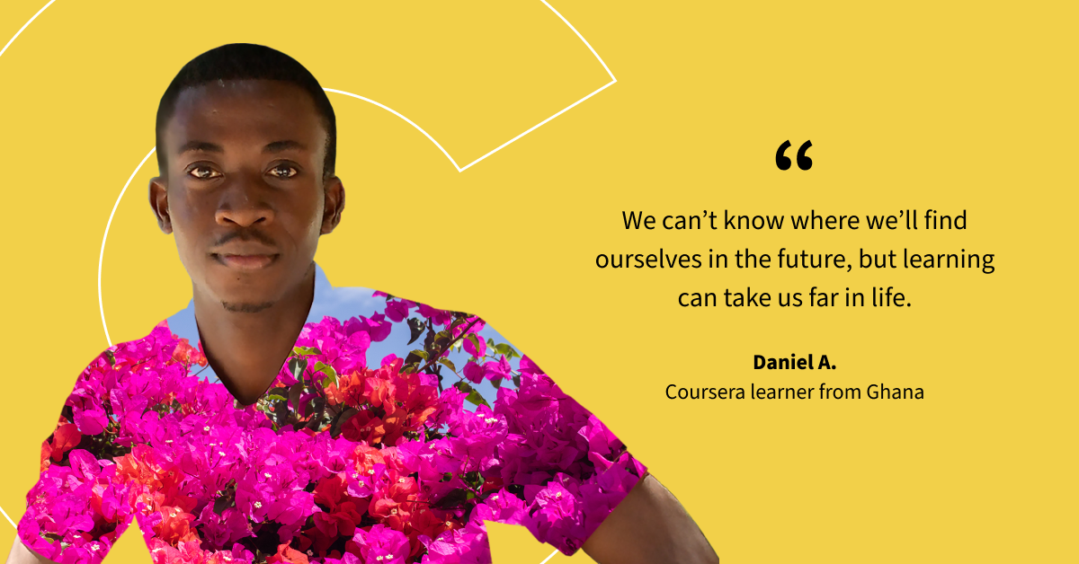 Daniel's inspiring story shows how learning new skills can benefit your own career as well as your community!